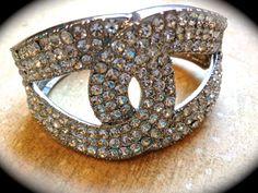 Stunning rhinestone cuff bracelet by JNPVintageJewelry on Etsy, $68.00 This is definitely #PoshONPennies