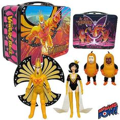 Venture Bros. Death's Head Monarch & Dr. Mrs. The Monarch Figures in Tin Tote