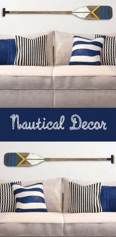 Rustic Oar adds a great touch to your boat, lakehouse or dock decor. #ad #nauticaldecor