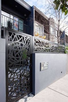 Wood Covered Pergola - - Backyard Pergola Covered - Pergola Attached To House With Brackets - Pergola Garten Ecke - Pergola Plans Shade Structure Front Gates, Entrance Gates, Front Fence, Fence Landscaping, Backyard Fences, Fence Garden, Fence Art, Farm Fence, Grill Design
