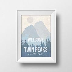Affiche rétro inspiré de Twin Peaks