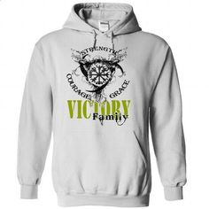 VICTORY Family - Strength Courage Grace - #tshirt frases #tshirt bemalen. BUY NOW => https://www.sunfrog.com/Names/VICTORY-Family--Strength-Courage-Grace-tstfayunqt-White-51075535-Hoodie.html?68278