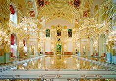 Inside grand Kremlin Palace