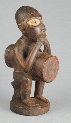 Joli petit fétiche Nkisi Nkissi Bakongo Kongo Yombe fetish power figure - Congo MC0554