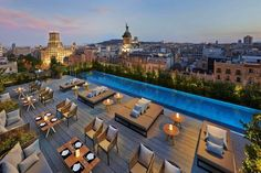 Mandarin Oriental Barcelona rooftop. Fusing modern design with timeless style, the hotel is truly original.