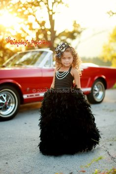 Feather Dress   Feather Tutu Dress  Audrey by threadedcreations, $125.00