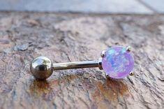 Purple Opal Belly Button Jewelry Ring Prong Set Hola a todos, estamos presentando diseños populares de esmaltes de uñas permanentes que son muy apreciados por todos. Puedes seguir todo sobre la nueva moda en nuestro sitio web. No olvides seguirnos en Pinterest.  Purple Opal Belly Button Jewelry Ring Prong Set  Imeri Leverette  Purple Opal Belly Button Jewelry Ring Prong Set #piercingssalinesolution Opal Belly Ring, Belly Rings, Belly Button Rings, Nose Rings, Belly Button Piercing Jewelry, Purple Fire, Cute Piercings, Belly Bars, Jewelry Rings