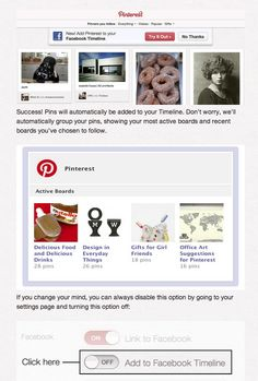 Connecting Pinterest and Facebook - from the Pinterest blog