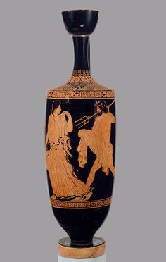 Attributed to the Phiale Painter: Lekythos depicting Poseidon pursuing Amymone (17.230.35) | Heilbrunn Timeline of Art History | The Metropolitan Museum of Art