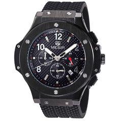 Pánské luxusní hodinky MEGIR černé – pánské hodinky Na tento produkt se  vztahuje nejen zajímavá sleva aff7ea768b8