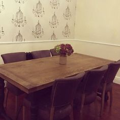 This beautiful dining room belongs to k3llyjellybelly and features our Keeler Dining Table & Mimi Chairs.