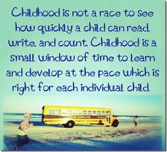 { Childhood is Not a Race } Great post on teaching your child to read...