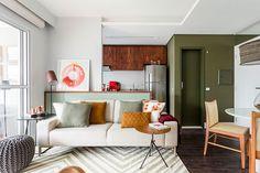 Маленькая и яркая квартира в Бразилии (55 кв. м) | Пуфик - блог о дизайне интерьера