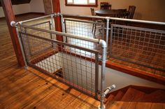 woven wire metal railings exterior | Banker U-Edge frames and woven wire mesh infill panels were used for ...