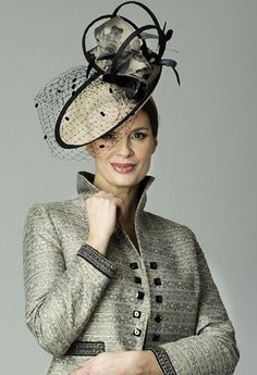 11a417a68ab5a Elegant mother of the bride or groom outfit by Presen Ladies Hats