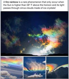 Fire Rainbow - Beautiful The Effective Pictures We Offer You About Life Sc Photo Trop Belle, Pretty Pictures, Cool Photos, Amazing Photography, Nature Photography, Abstract Photography, Fire Rainbow, Rainbow Art, Wtf Fun Facts