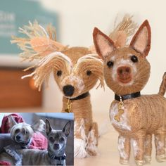 little dogs made by wool