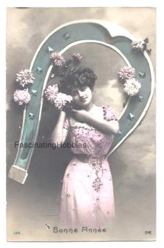 Vintage French Postcard  WOMAN Long Pink by FascinatingHobbies