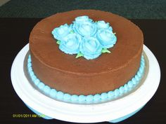 Course 1 Final Cake: Chocolate Buttercream with Buttercream Roses