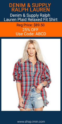 Denim & Supply Ralph Lauren Plaid Relaxed Fit Shirt #fashion #I mIn #sale http://www.shop.imin.com/p/Denim-%26-Supply-Ralph-Lauren-Plaid-Relaxed-Fit-Shirt/1639897