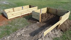 we've added our second piece of garden frame.adding more dirt to form the base of our garden