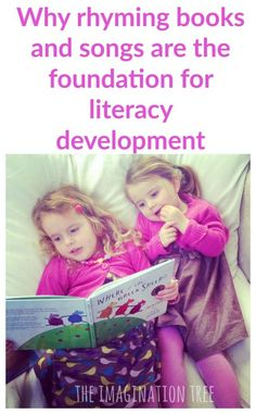 The Imagination Tree: The importance of rhyme in early literacy development, and lots of ideas for everyday play! Emergent Literacy, Preschool Literacy, Literacy Skills, Early Literacy, Literacy Activities, Toddler Activities, Preschool Books, Early Math, Preschool Crafts