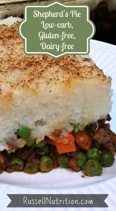 We love this shepherd's pie at my house!  It tastes so yummy and this recipe makes a lot so we have leftovers for a few days. It's perfectly healthy comfort food full of satiating protein, fat, and fiber.  Dig in!  In addition to peas and carrots, feel free to add extra veggies like frozen broccoli florets, too. Just cut any large pieces into smaller ones.