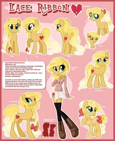 Lace Ribbon Reference Sheet by MagicaRin