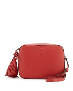 Thea Shoulder Bag w/Tassel, Rust Red