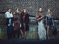Fall Fashion: New York Designers Claim Their Turf  - From left: Marc Jacobs fur, tank minidress, dress, trousers, and sandals