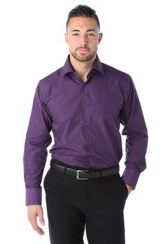 Chemise ville violet, Unie
