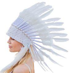 Novum Crafts Feather Headdress   Native American Indian I... https://www.amazon.com/dp/B00L7R2DU0/ref=cm_sw_r_pi_dp_x_T-Qgyb0Q6XKJX