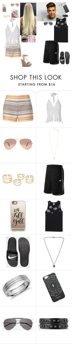 """""""Blair and Travis"""" by lotus-queen ❤ liked on Polyvore featuring Solid & Striped, Ray-Ban, MANU, New Balance, Casetify, Justin Bieber, Vans, NIKE, Gucci and Blue Nile"""