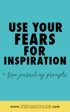 How to Use Your Fears to Motivate + Inspire Your Creativity + 10 free Journaling Prompts | Is fear holding you back from your wildest dreams? Fear manifests itself in so many ways to creatives and entrepreneurs, but you deserve so much more. Let's find out how to use your fears to fuel your creativity and motivate you! Click through for the free prompts or repin for later!