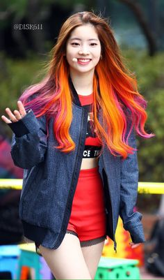 Kpop idols are known for colorful and mix hair colors and hairstyles. To kpop idols and celebrities, hair plays a big role for them. TWICE members are praised for their cute visuals. ONCE, TW… Nayeon, Kpop Girl Groups, Kpop Girls, Kpop Fashion, Korean Fashion, Korean Colors, Oppa Gangnam Style, Kpop Mode, Twice Dahyun