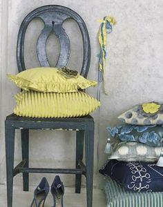 yellow gray blue pattern mix