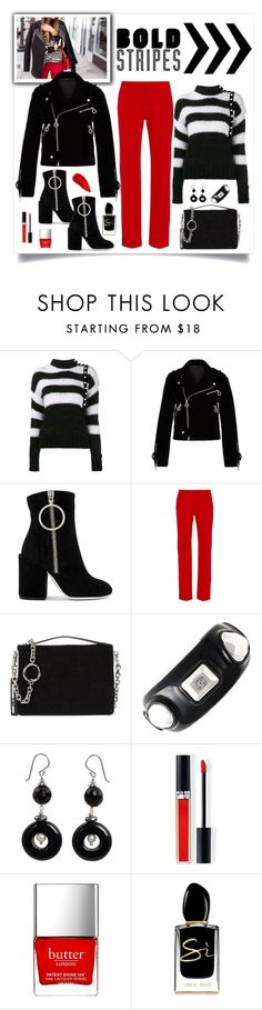 """""""Marc by Marc Jacobs Semona Velvet Bomber Jacket Look"""" by romaboots-1 ❤ liked on Polyvore featuring Philosophy di Lorenzo Serafini, Marc by Marc Jacobs, Off-White, Clover Canyon, McQ by Alexander McQueen, Chanel, NOVICA, Christian Dior, Butter London and Giorgio Armani"""