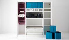 IKEA Österreich, SKUBB Serie, hier u. a. mit SKUBB Schuhkartons in Weiß