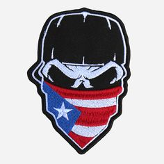 Shop NC Patches For The Perfect Biker Leather Vest Embroidery Patches. Look at Skull With Cap And Puerto Rican Flag Bandana Embroidered Patch. Puerto Rican Power, Puerto Rican Flag, Puerto Rico Tattoo, Bandana, Taino Tattoos, New York Cap, Baseball Wallpaper, Gangsta Tattoos, Arm Tats