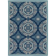 Found it at Wayfair - Umatilla Navy Indoor / Outdoor Area Rug
