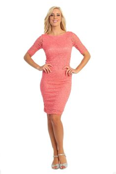New Elegant Short Mother of the Bride Groom Wedding Church Cocktail Party Dress