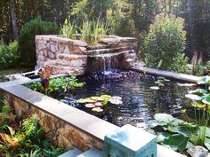 Peaceful Effect - Tranquil Water Features for Your Yard on HGTV. Hmmm, I wonder if my husband would notice if this appeared in our backyard?!