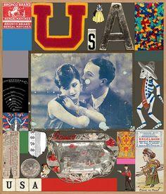 USA Series - Excelsior (Silkscreen with Diamond Dust Signed Limited Edition of by Peter Blake Art Prints For Sale, Art For Sale, Fine Art Prints, Childrens Alphabet, Printed Portfolio, Peter Blake, Pop Art Movement, Found Art, Gcse Art