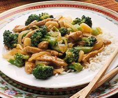 Pork and Broccoli Stir-Fry Enjoy this family-style Asian stir-fry over rice. Recipe says it serves 3, which is right. I used a pork tenderloin and it was delicious!