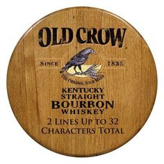Promotional Wood Products Personalized Barrel Head - Old Crow