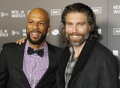 """Hell On Wheels - Cast members Anson Mount (R) and Common pose at the premiere screening of AMC cable channel's new series """"Hell on Wheels"""" in Los Angeles October 27, 2011. (Photo : www.reuters.com)"""