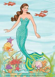Miss Missy Paper Dolls: mermaid paper dolls