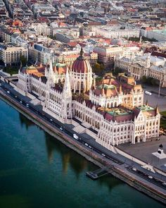 """""""A Buda-ful view over Budapest."""" Want to see intricate architecture like this up close? Head to the link in our bio for a complete guide to Hungary's capital. Drone photo and sweet pun by Beautiful Places To Travel, Most Beautiful Cities, Wonderful Places, Wachau Valley, Budapest Travel Guide, Belle Villa, Prison, The Best, Travel Inspiration"""