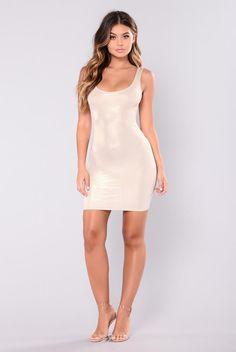 bac499a24b0b5 Dulcie Foil Dress - Gold Tight Dresses