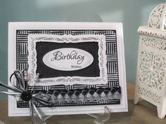 PartiCraft (Participate In Craft): Silver Engraved Card - tutorial several great techniques, including the plaited ribbon border and embossing metallic engraving board